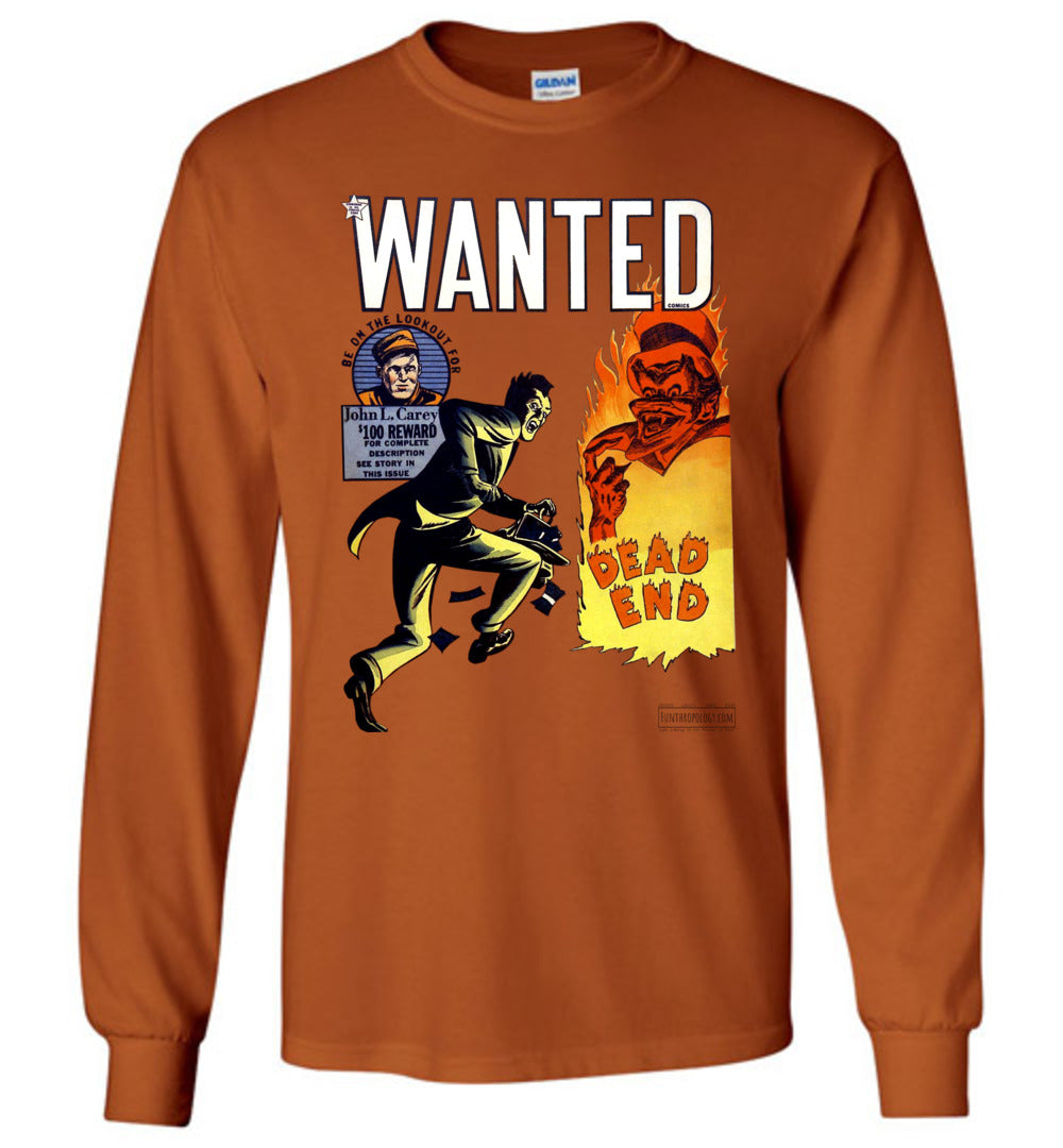 Wanted Comics No.34 Long Sleeve (Unisex, Light Colors)
