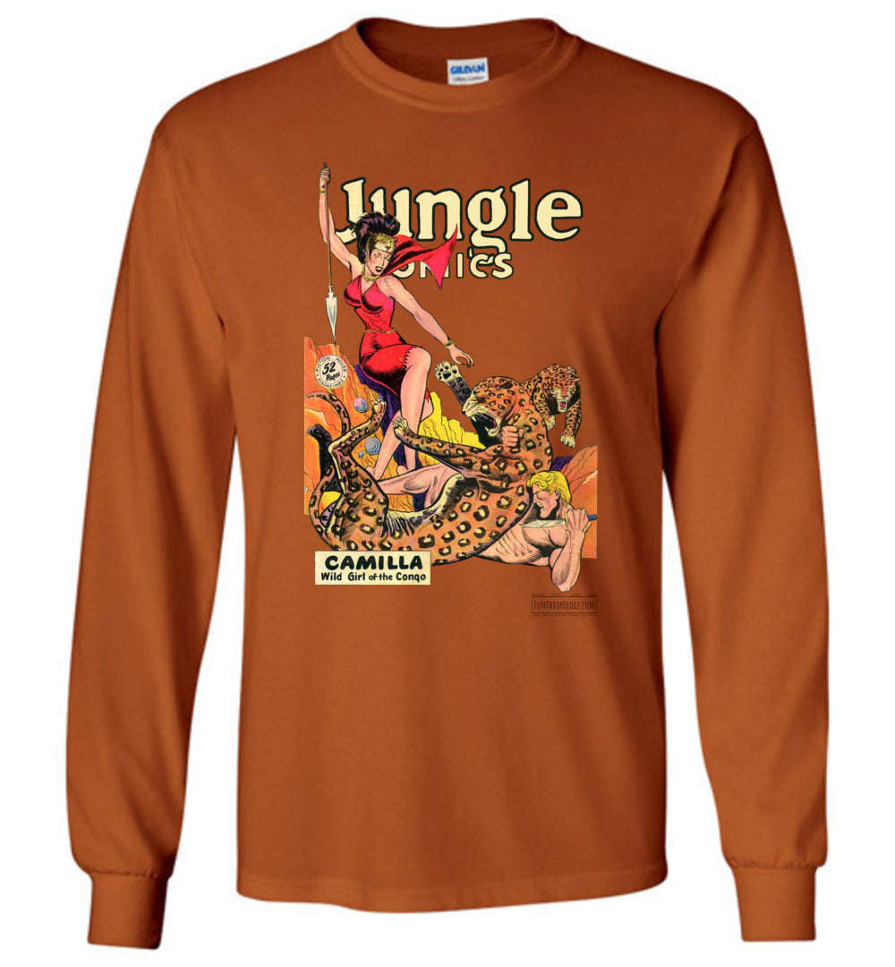 Jungle Comics No.105 Long Sleeve (Unisex, Light Colors)