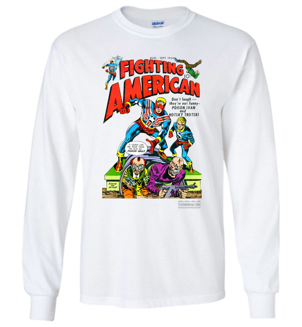 Fighting American No.3 Long Sleeve (Unisex, Light Colors)