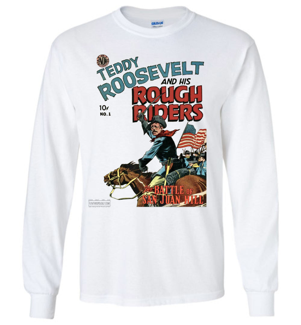 Teddy Roosevelt And His Rough Riders No.1 Long Sleeve (Youth, Light Colors)