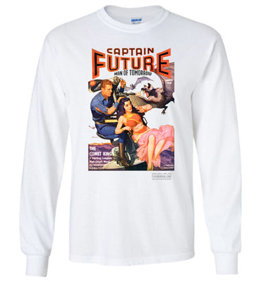 Captain Future No.11 Long Sleeve (Unisex Plus, Light Colors)