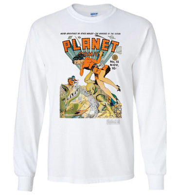 Planet Comics No.15 Long Sleeve (Unisex Plus, Light Colors)