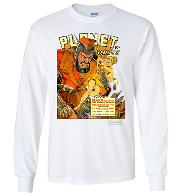Planet Comics No.16 Long Sleeve (Unisex Plus, Light Colors)