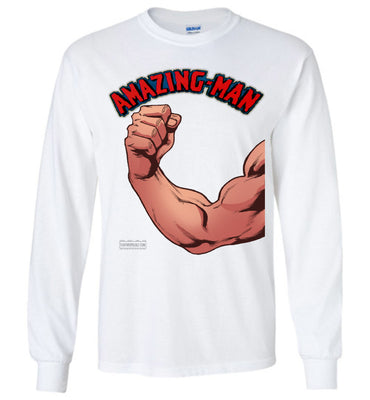 Amazing-Man Strength Long Sleeve (Unisex Plus, Light Colors)
