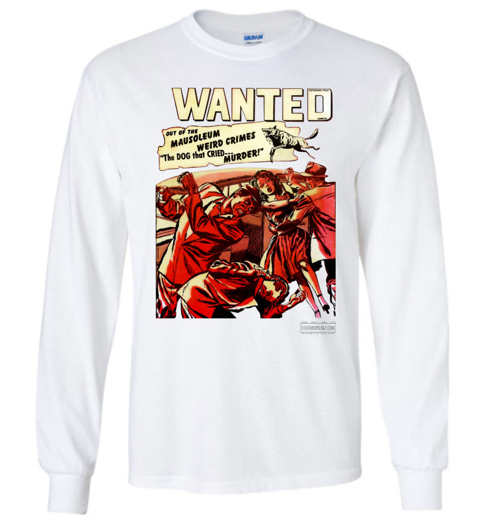 Wanted Comics No.49 Long Sleeve (Unisex, Light Colors)