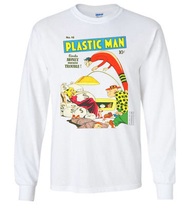 Plastic Man No.16 Long Sleeve (Unisex, Light Colors)