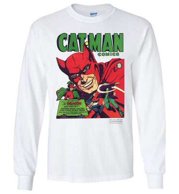 Cat-Man No.10 Long Sleeve (Unisex Plus, Light Colors)