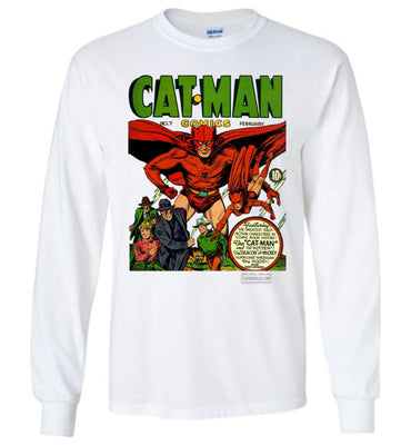 Cat-Man No.7 Long Sleeve (Unisex Plus, Light Colors)