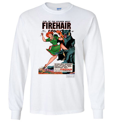 Firehair Comics No.1 Long Sleeve (Unisex Plus, Light Colors)