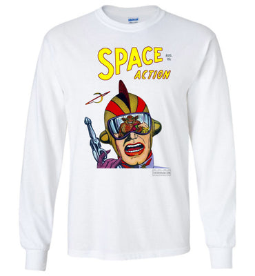 Space Action No.2 Long Sleeve (Unisex Plus, Light Colors)