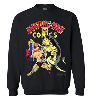 Amazing-Man Comics No.14 Sweatshirt (Unisex Plus, Dark Colors)