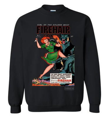 Firehair Comics No.1 Sweatshirt (Unisex Plus, Dark Colors)