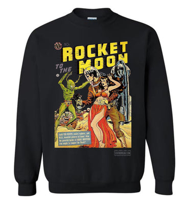 Rocket To The Moon No.1 Sweatshirt (Unisex Plus, Dark Colors)