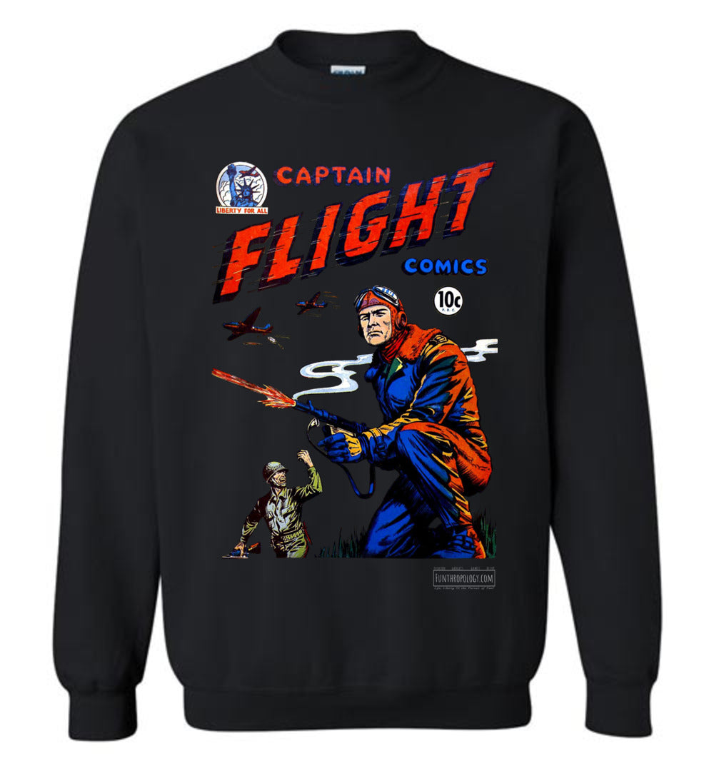 Captain Flight No.3 Sweatshirt (Unisex, Dark Colors)