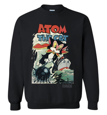 Atom The Cat No.10 Sweatshirt (Unisex Plus, Dark Colors)