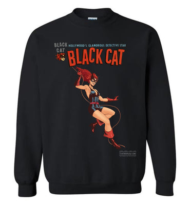 Black Cat Reimagined Sweatshirt (Unisex Plus, Dark Colors)