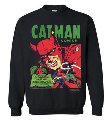 Cat-Man No.10 Sweatshirt (Unisex Plus, Dark Colors)