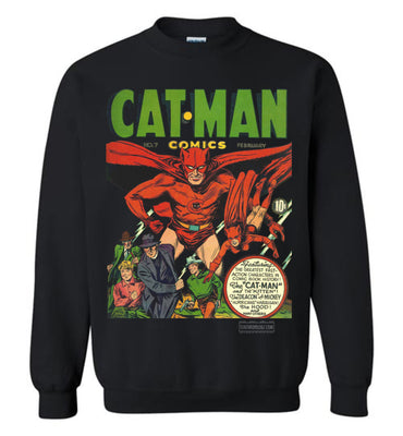 Cat-Man No.7 Sweatshirt (Unisex Plus, Dark Colors)