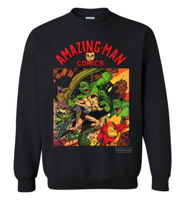Amazing-Man Comics No.22 Sweatshirt (Unisex Plus, Dark Colors)