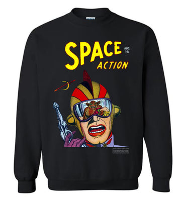 Space Action No.2 Sweatshirt (Unisex Plus, Dark Colors)