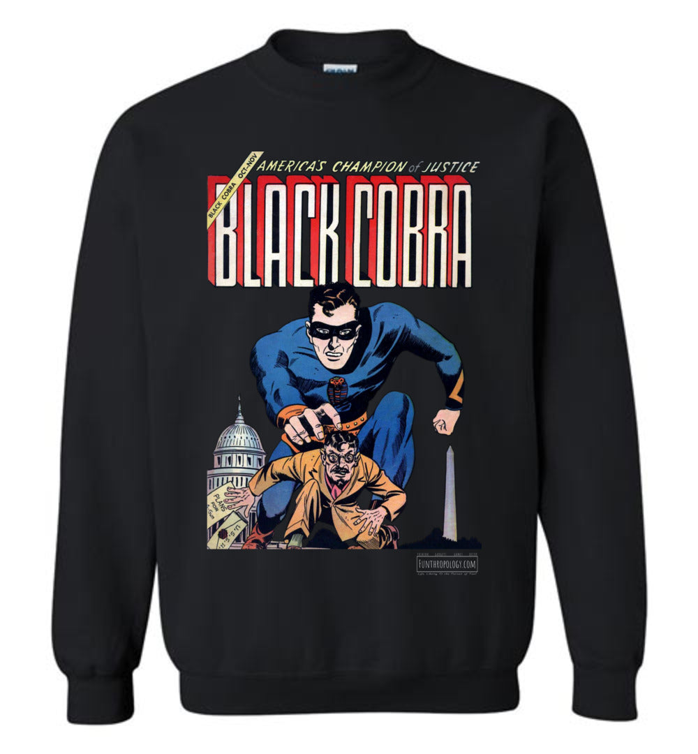 Black Cobra No.1 Sweatshirt (Unisex, Dark Colors)