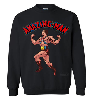 Amazing-Man Reimagined Sweatshirt (Unisex Plus, Dark Colors)
