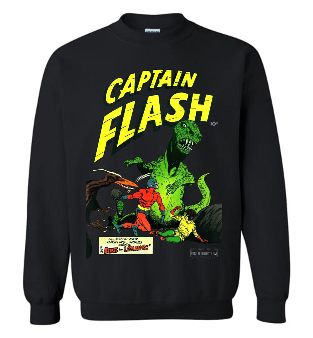 Captain Flash No.3 Sweatshirt (Unisex, Dark Colors)