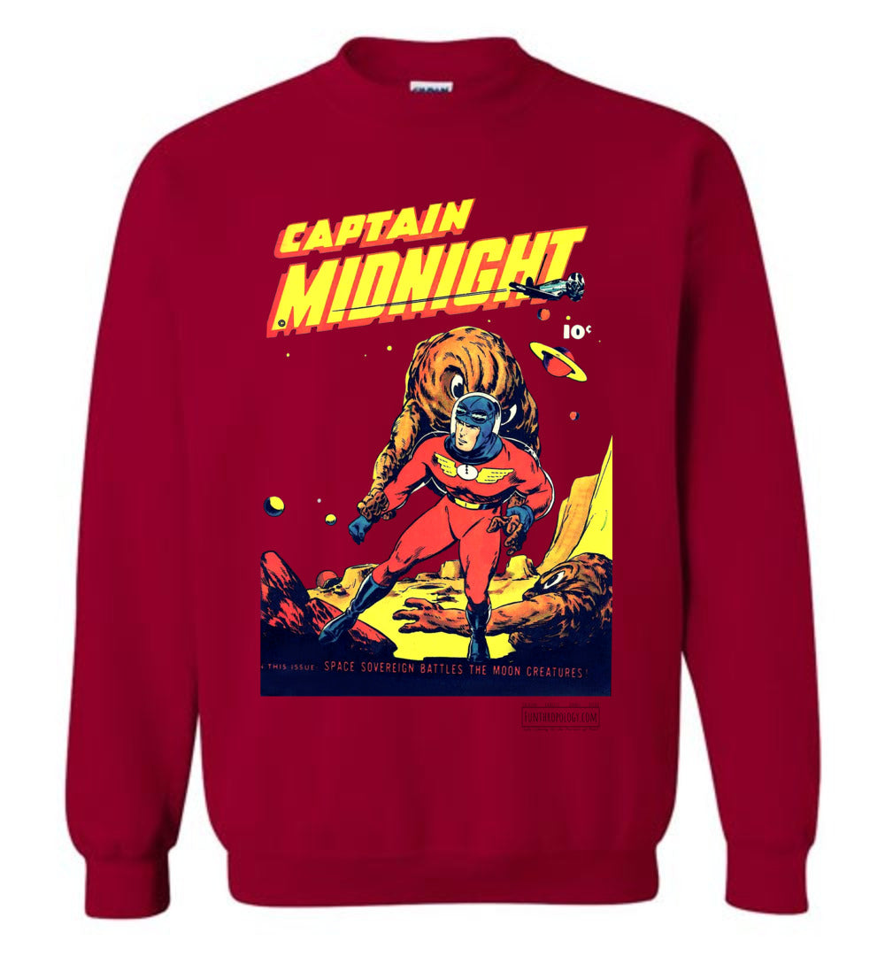 Captain Midnight No.50 Sweatshirt (Unisex, Light Colors)