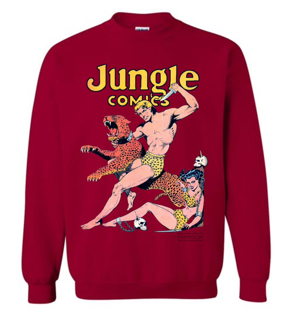 Jungle Comics No.42 Sweatshirt (Unisex, Light Colors)