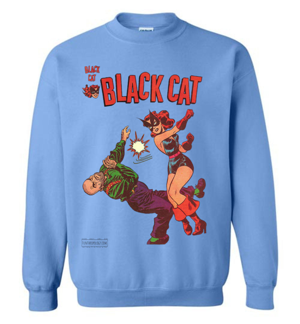 Black Cat No.4 Sweatshirt (Unisex, Light Colors)