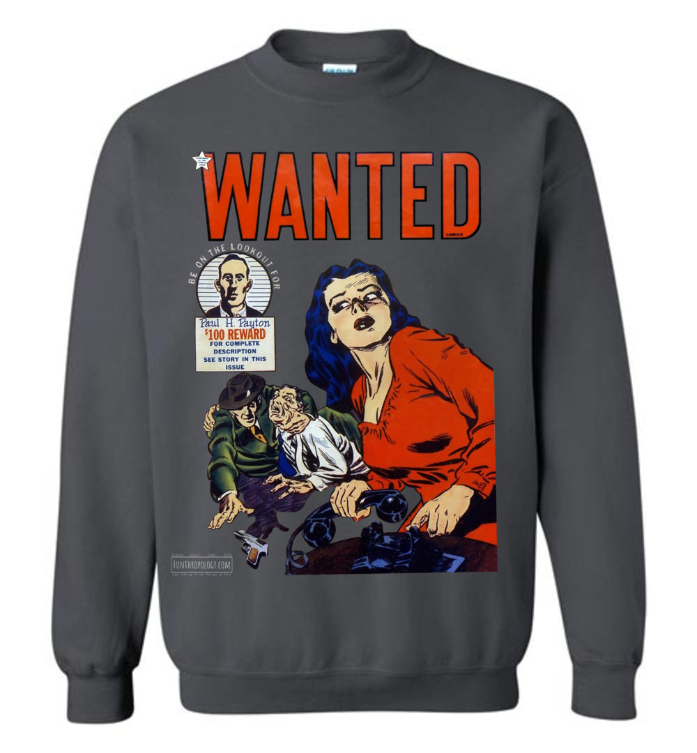 Wanted Comics No.28 Sweatshirt (Unisex, Dark Colors)