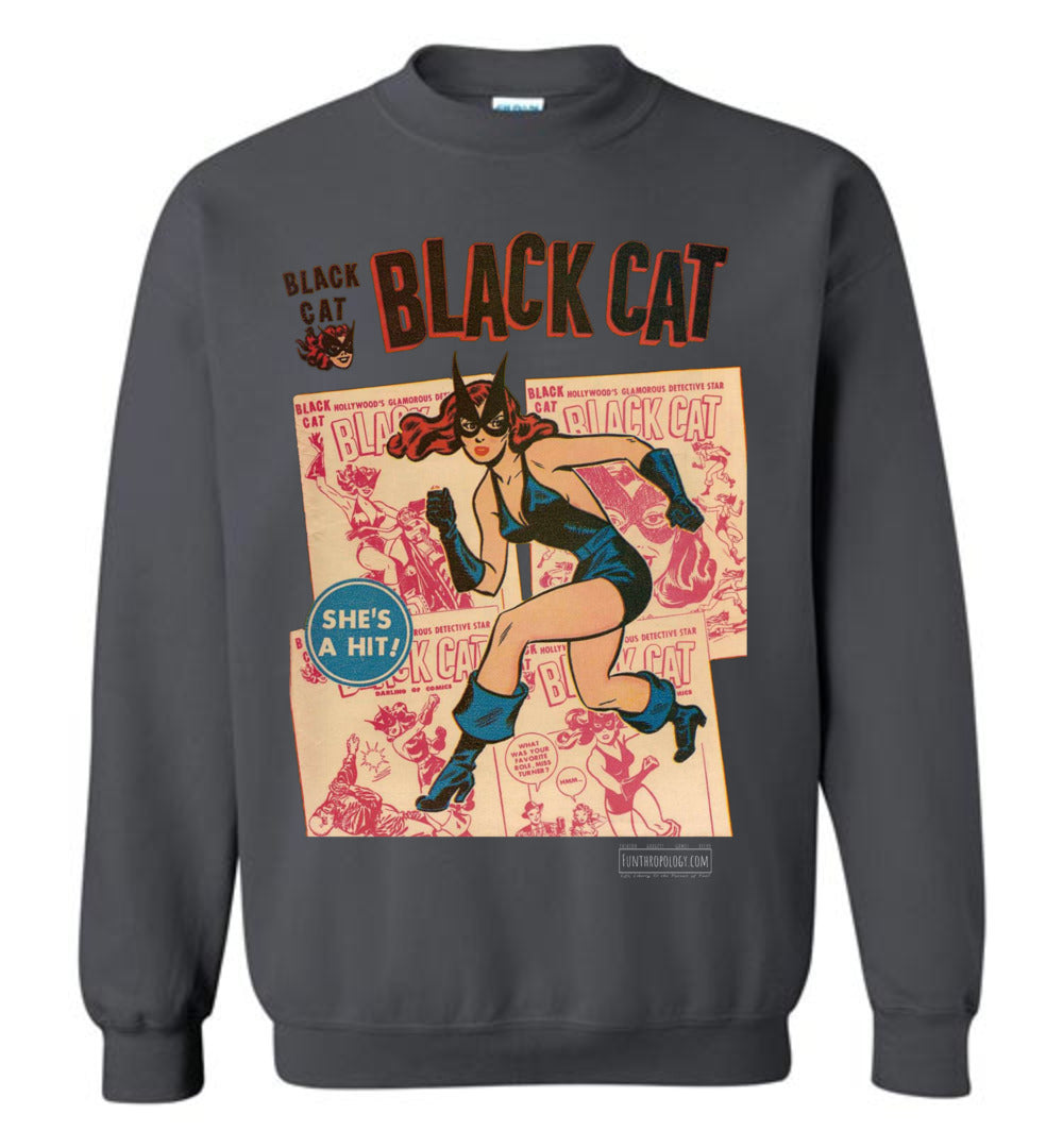 Black Cat No.6 Sweatshirt (Unisex, Dark Colors)