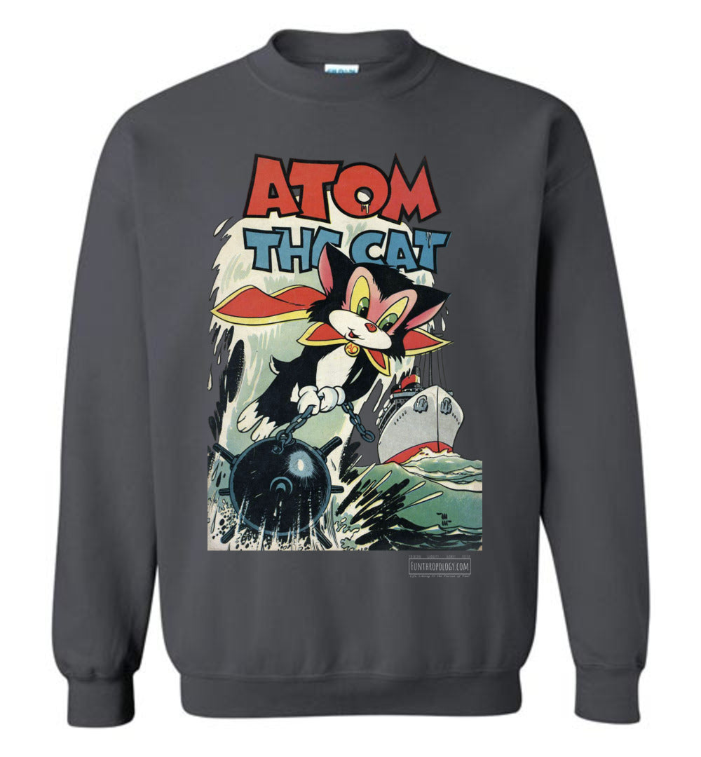 Atom The Cat No.10 Sweatshirt (Unisex, Dark Colors)