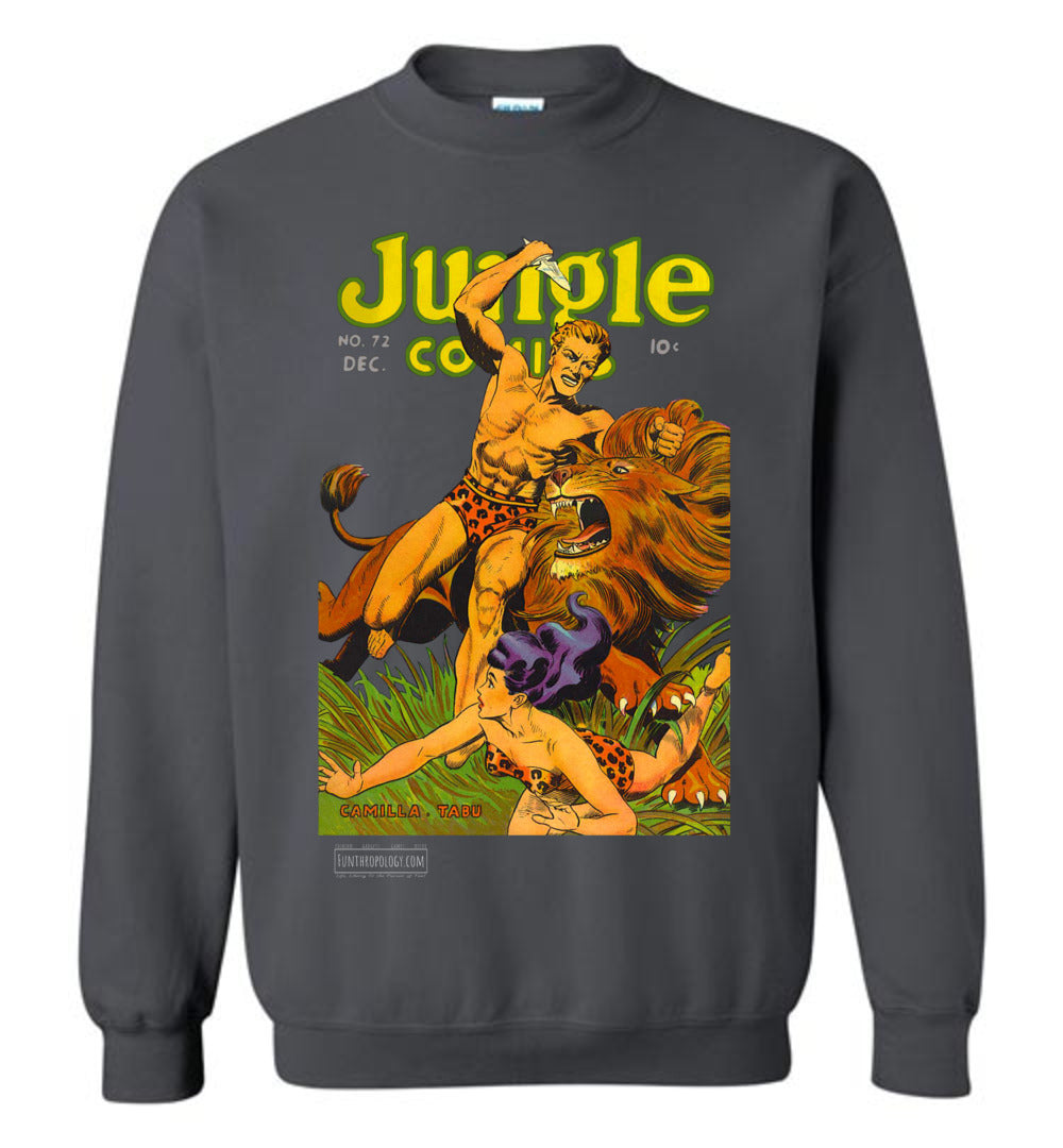 Jungle Comics No.72 Sweatshirt (Unisex, Dark Colors)