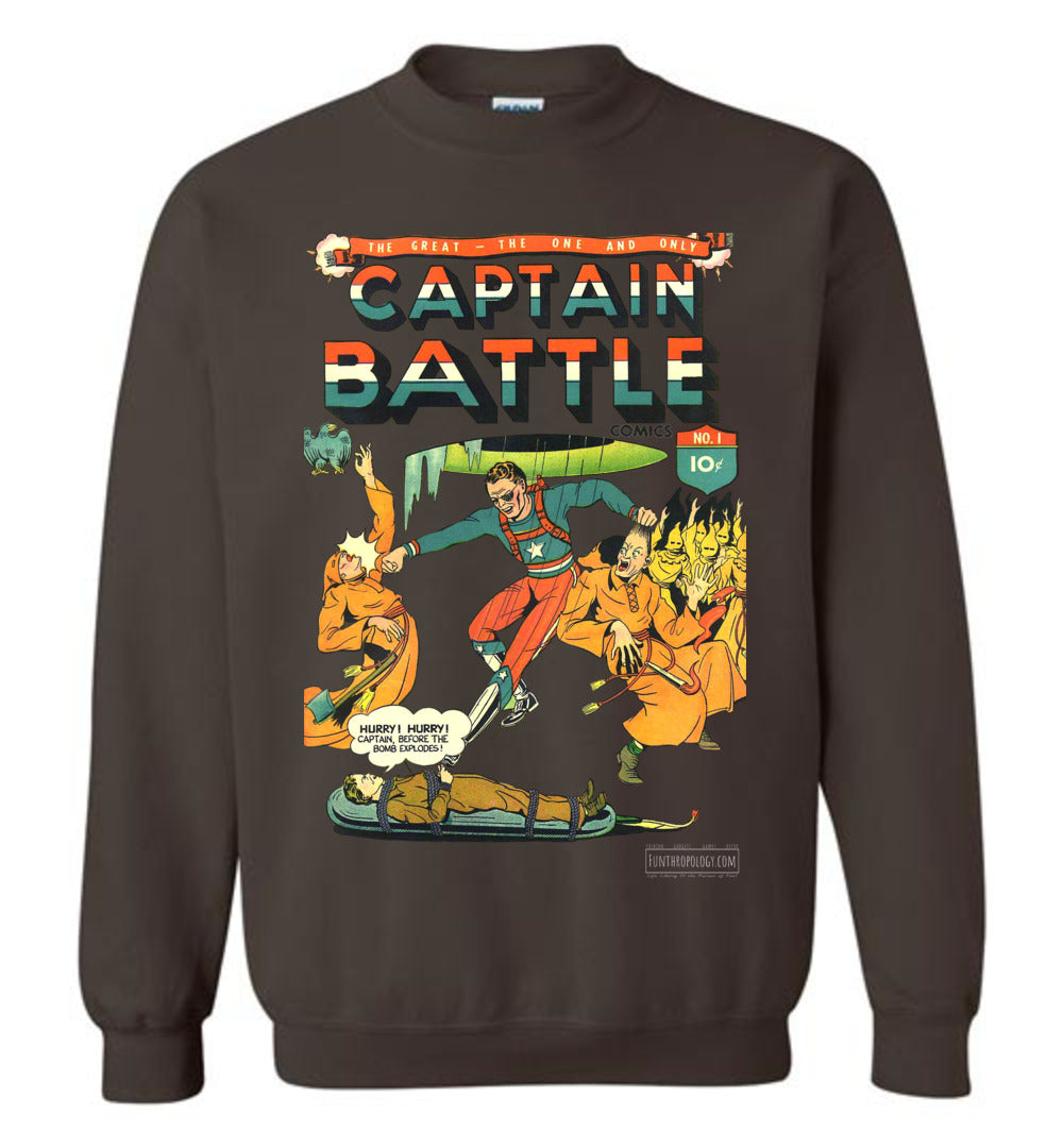 Captain Battle No.1 Sweatshirt (Unisex, Dark Colors)