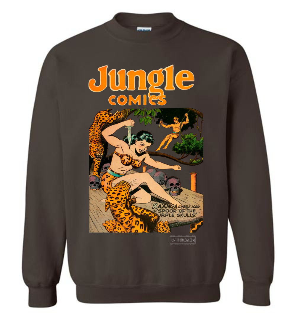 Jungle Comics No.66 Sweatshirt (Unisex, Dark Colors)