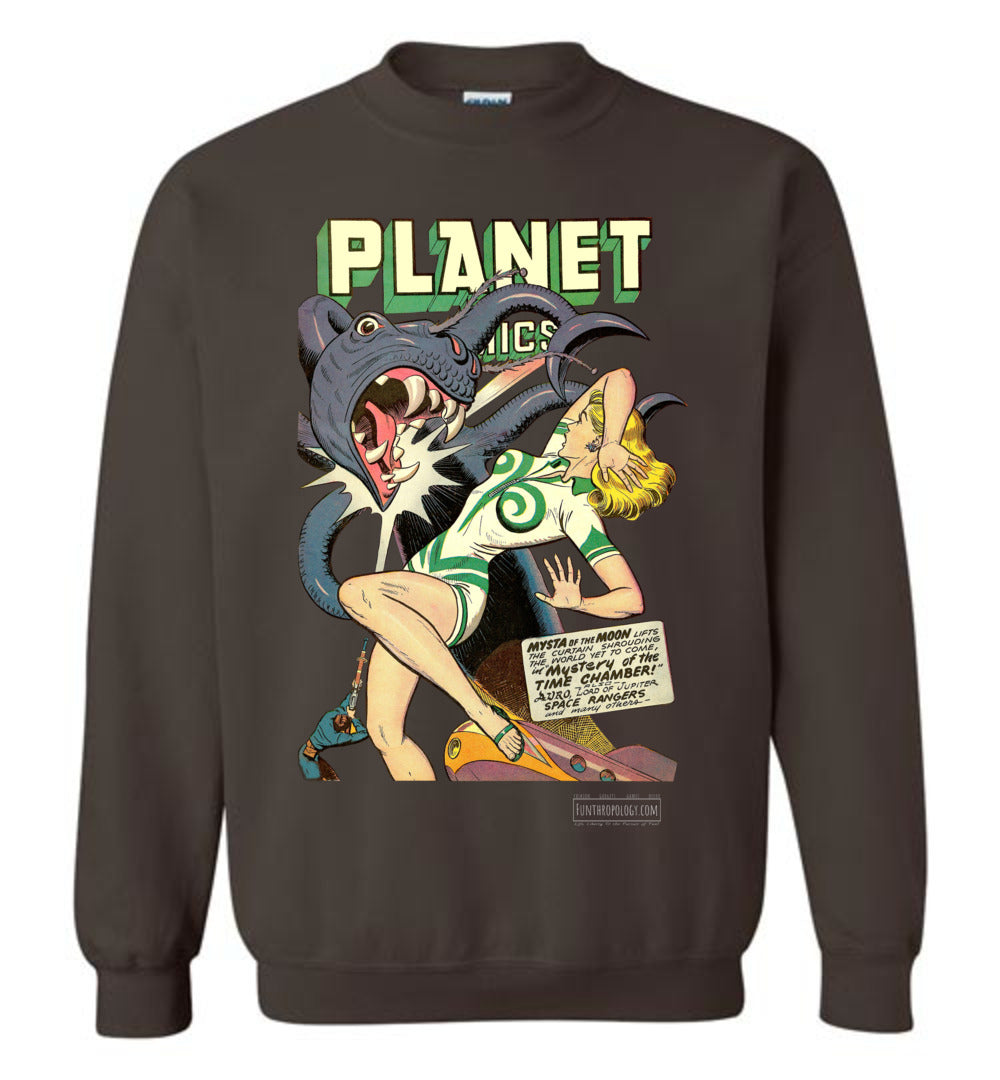 Planet Comics No.52 Sweatshirt (Unisex, Dark Colors)