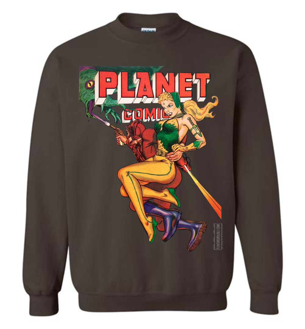 Planet Comics No.66 Sweatshirt (Unisex, Dark Colors)