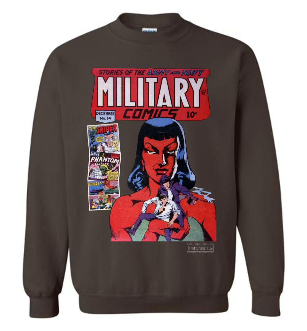Military Comics No.14 Sweatshirt (Unisex, Dark Colors)