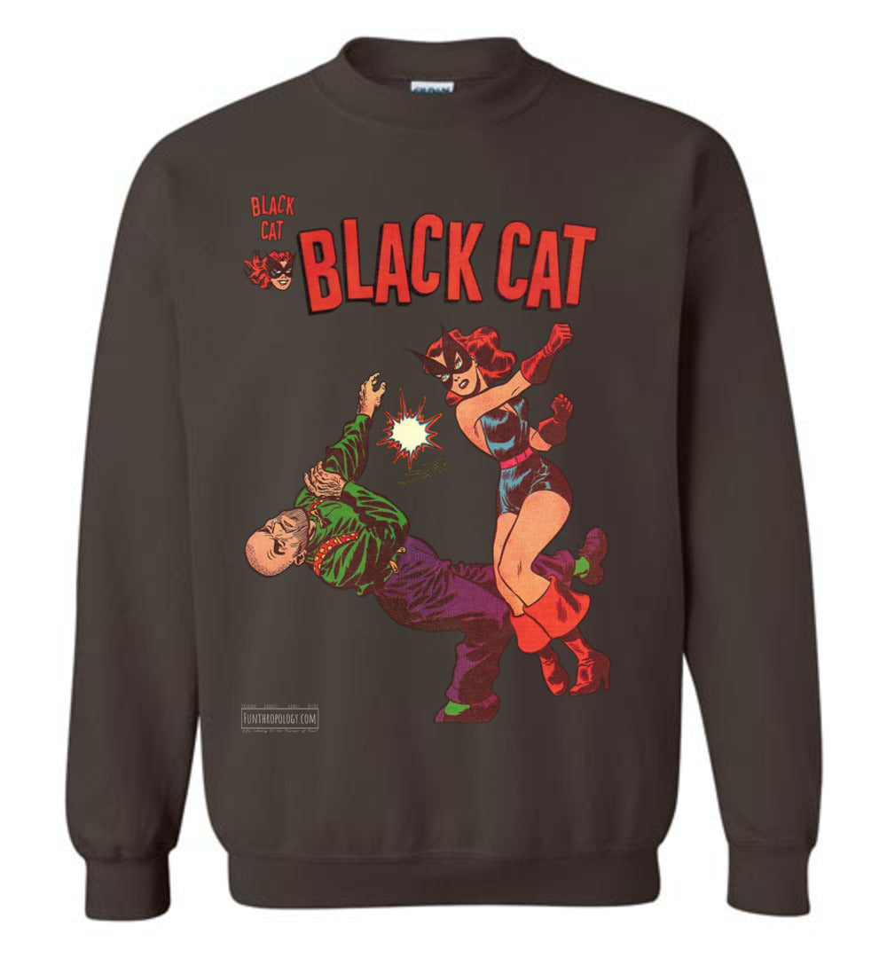 Black Cat No.4 Sweatshirt (Unisex, Dark Colors)