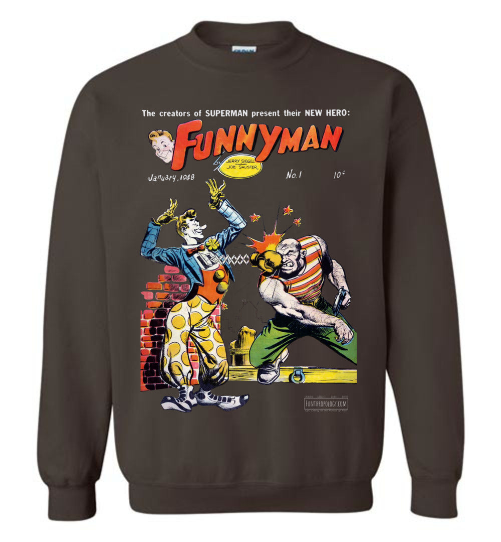 Funnyman No.1 Sweatshirt (Unisex, Dark Colors)