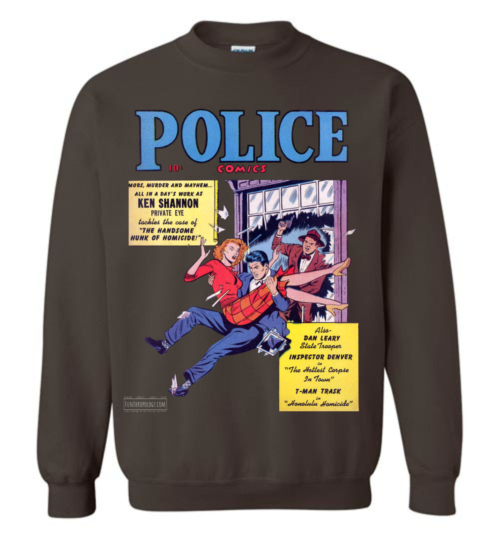 Police Comics No.104 Sweatshirt (Unisex, Dark Colors)