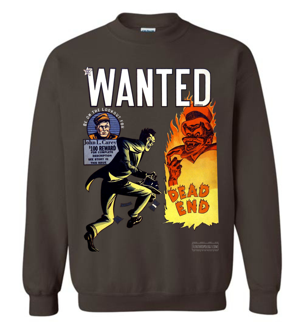 Wanted Comics No.34 Sweatshirt (Unisex, Dark Colors)