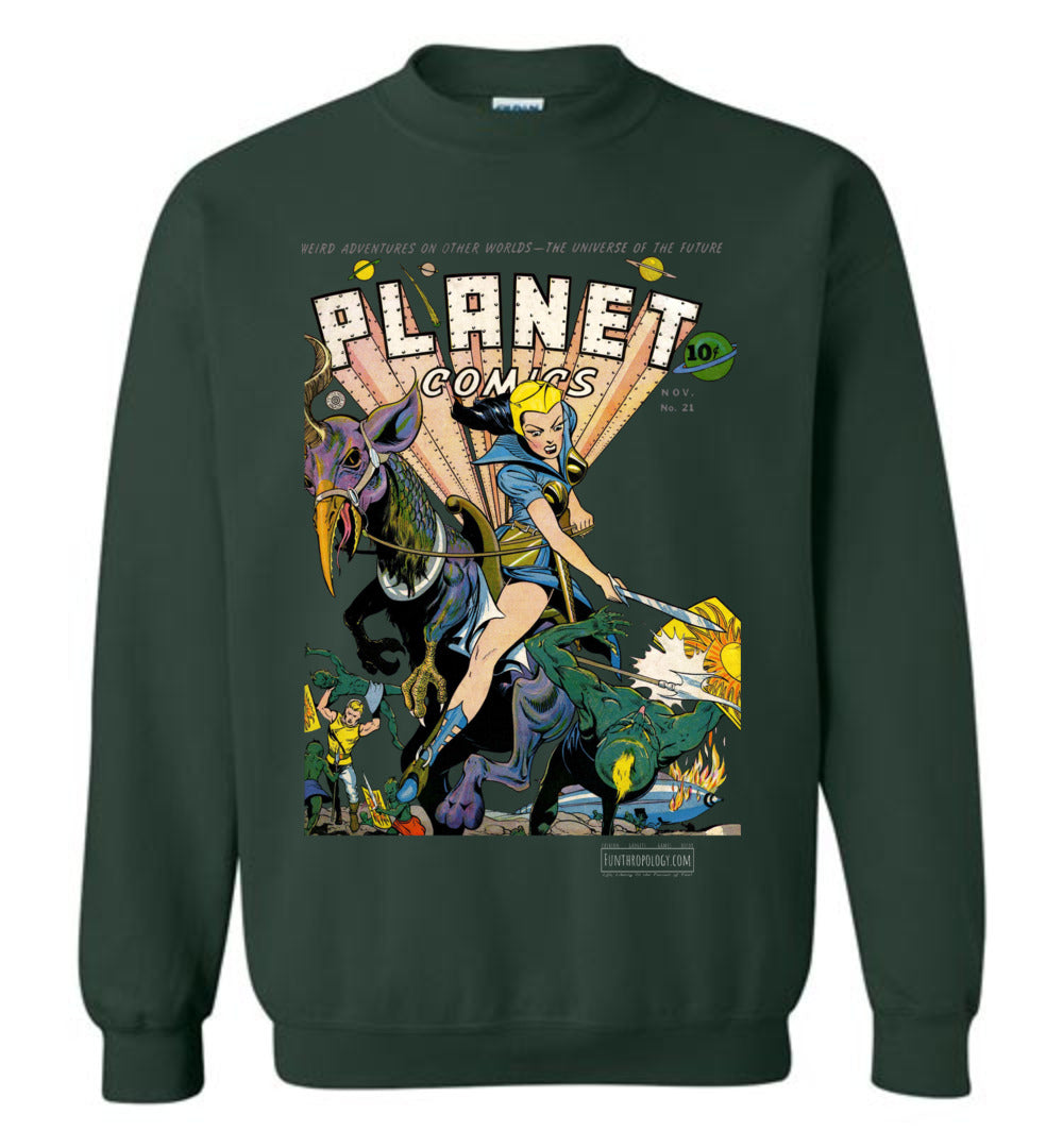 Planet Comics No.21 Sweatshirt (Unisex, Dark Colors)