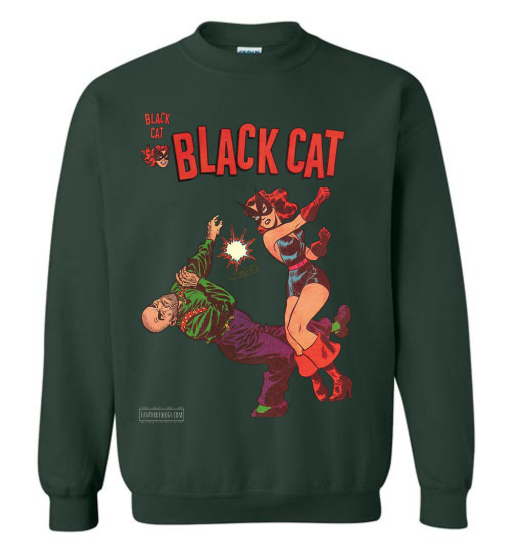 Black Cat No.4 Sweatshirt (Youth, Dark Colors)