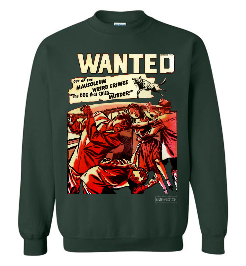 Wanted Comics No.49 Sweatshirt (Unisex, Dark Colors)