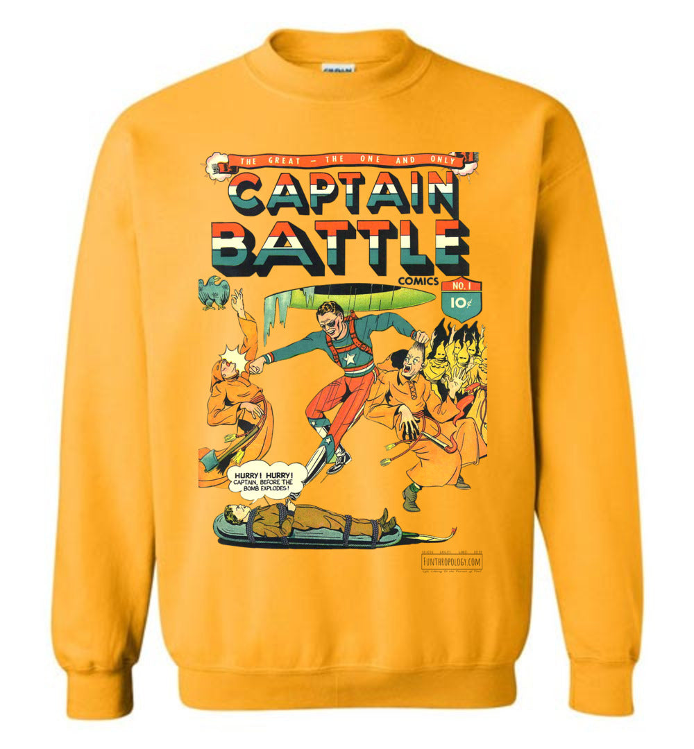 Captain Battle No.1 Sweatshirt (Unisex, Light Colors)