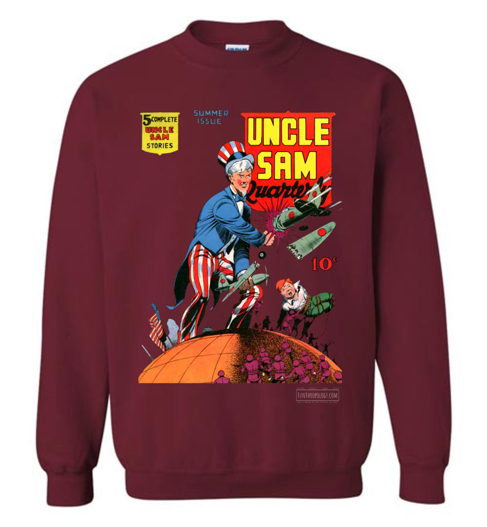 Uncle Sam Quarterly No.3 Sweatshirt (Unisex, Dark Colors)