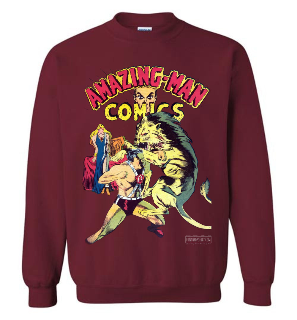 Amazing-Man Comics No.14 Sweatshirt (Unisex, Dark Colors)