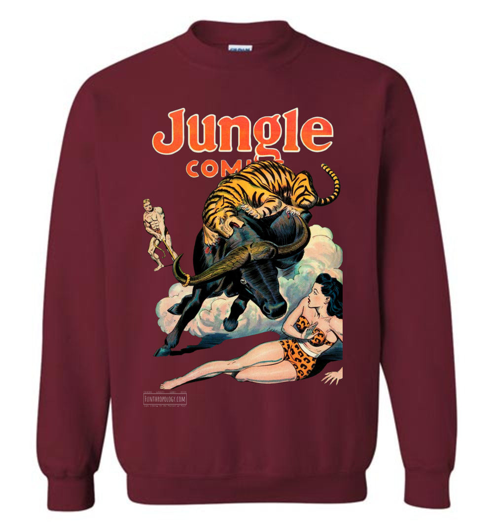 Jungle Comics No.84 Sweatshirt (Unisex, Dark Colors)